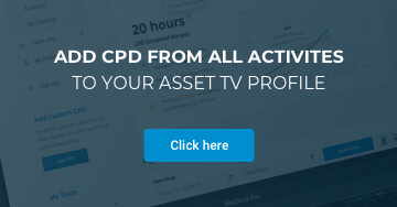 Add CPD from all your activities to your Asset TV profile
