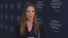 Trump arrives in Davos